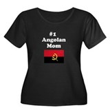 #1 Angolan Mom Women's Plus Size Scoop Neck Dark T