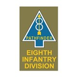 8th Infantry Division<BR> Decal