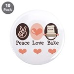 Peace Love Bake Bakers Baking 3.5