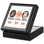 Peace Love Bake Bakers Baking Keepsake Box