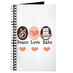 Peace Love Bake Bakers Baking Journal