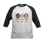 Peace Love Bake Bakers Baking Kids Baseball Jersey