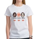 Peace Love Bake Bakers Baking Women's T-Shirt