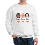 Peace Love Bake Bakers Baking Sweatshirt