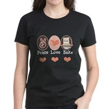 Peace Love Bake Bakers Baking Tee