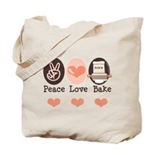 Peace Love Bake Bakers Baking Tote Bag