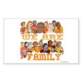 Jewish We Are Family Rectangle Decal