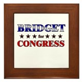 BRIDGET for congress Framed Tile