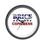 BRICE for congress Wall Clock