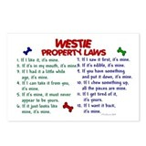 Westie Property Laws 2 Postcards (Package of 8)