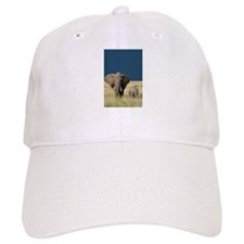 ELEPHANT MOTHER AND BABY Baseball Cap