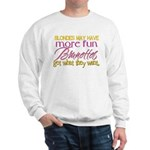 Brunettes Get What They Want Sweatshirt