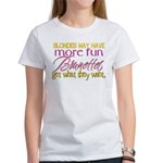 Brunettes Get What They Want Women's T-Shirt