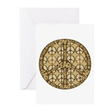 Multi Color Peace Symbol Anti War Greeting Cards (