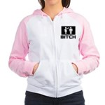 bitch Women's Raglan Hoodie