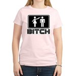 bitch Women's Pink T-Shirt