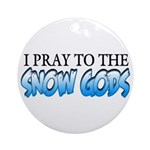 Snow Gods Ornament (Round)