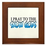 Snow Gods Framed Tile