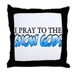 Snow Gods Throw Pillow