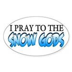 Snow Gods Oval Sticker