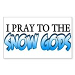 Snow Gods Rectangle Sticker