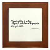 Writer Quote Framed Tile