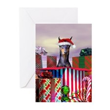 Doberman Christmas Greeting Cards (Pk of 20)