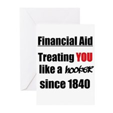 Financial Aid Hooker Greeting Cards (Pk of 10)