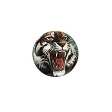 Tiger Roaring Mini Button (10 pack)