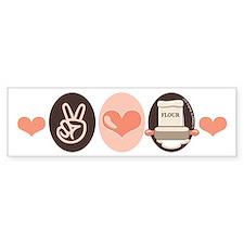 Peace Love Bake Bakers Baking Bumper Bumper Sticker