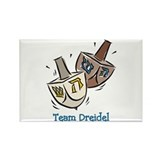 Team Dreidel Rectangle Magnet (100 pack)