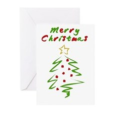 Brushed Christmas Greeting Cards (Pk of 20)