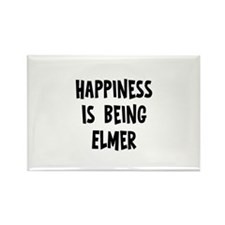 Happiness is being Elmer Rectangle Magnet