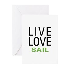 Live Love Sail Greeting Cards (Pk of 10)