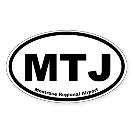 Montrose Regional Airport Oval Sticker