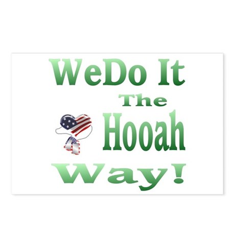 we do it the hooah way Postcards (Package of 8)