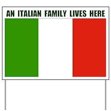 ITALIAN FAMILY Yard Sign