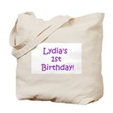 Lydia's   1st   Birthday! Tote Bag