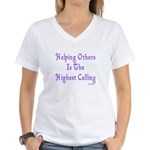 Helping Others Women's V-Neck T-Shirt