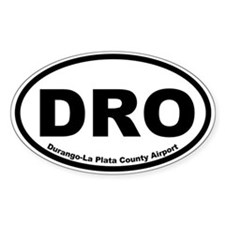 Durango-La Plata County Airport Oval Decal