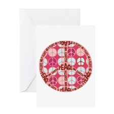 Pink - Peace on Earth Greeting Card