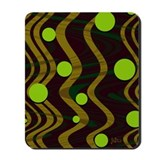 Bronze Marble Dot Wave Mousepad