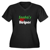Santa's lil' Helper Women's Plus Size V-Neck Dark