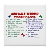 Airedale Terrier Property Laws 2 Tile Coaster