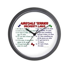 Airedale Terrier Property Laws 2 Wall Clock