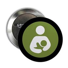 "Breastfeeding Symbol 2.25"" Button"