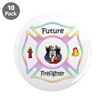 "Future Firefighter Pastel 3.5"" Button (10 pac"