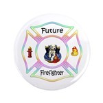 "Future Firefighter Pastel 3.5"" Button"