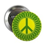 Green Peace Sign Button