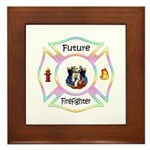 Future Firefighter Pastel Framed Tile